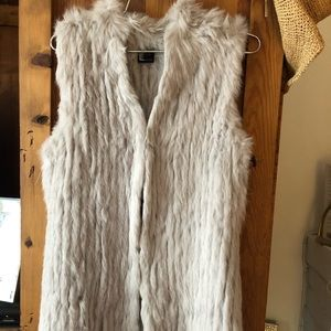 Love token rabbit fur vest size small